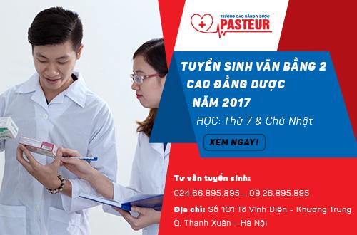 Trường Cao đẳng Y Dược Pasteur tuyển sinhVăn bằng 2 Cao đẳng Dược học T7, chủ nhật